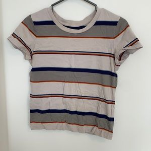 Golden by TNA Cotton Striped TShirt S